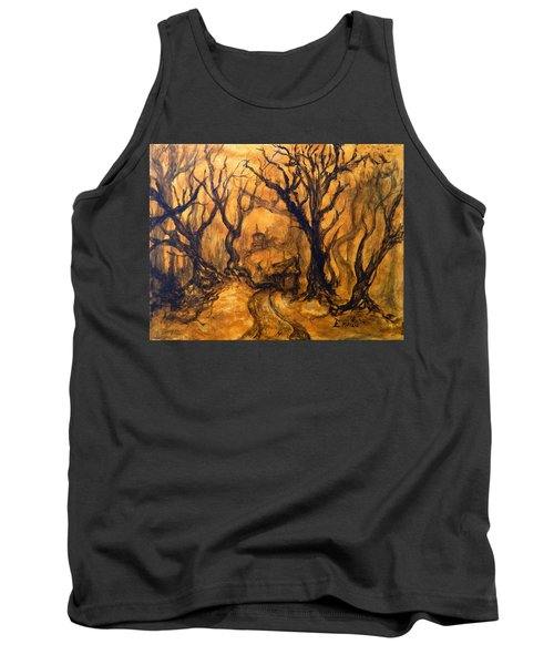 Tank Top featuring the painting Toad Hollow by Christophe Ennis