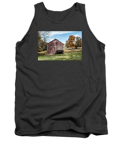 Tank Top featuring the photograph Tobacco Barn Ready For Smoking by Debbie Green