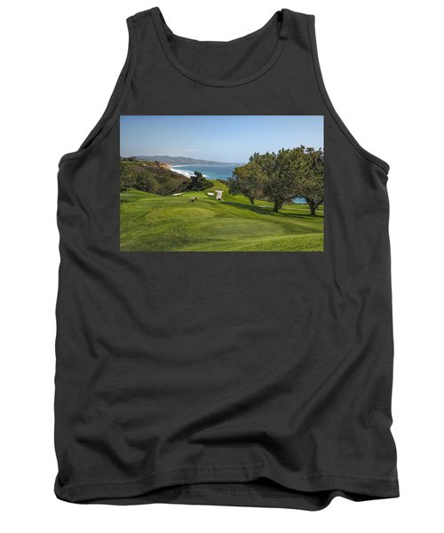 Torrey Pines Golf Course North 6th Hole Tank Top by Adam Romanowicz