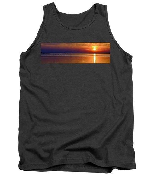 Tours End - Kayak Sunset Photo Tank Top