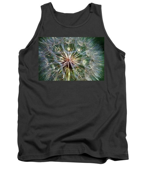 Tank Top featuring the photograph Tragopogon Dubius Yellow Salsify Flower Fruit Seed by Karon Melillo DeVega