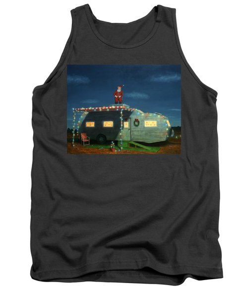 Trailer House Christmas Tank Top