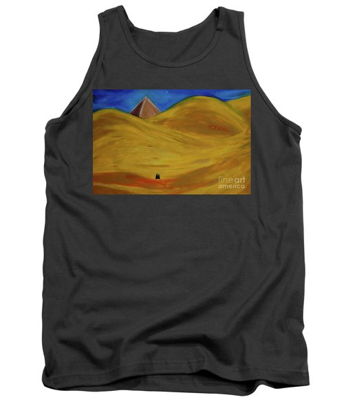 Tank Top featuring the drawing Travelers Desert by First Star Art