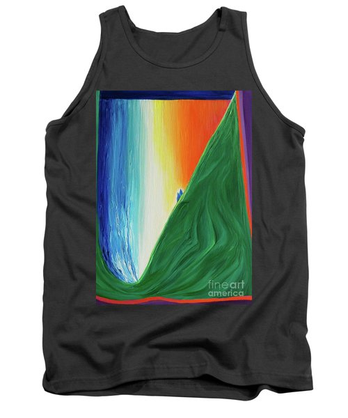 Tank Top featuring the painting Travelers Rainbow Waterfall By Jrr by First Star Art