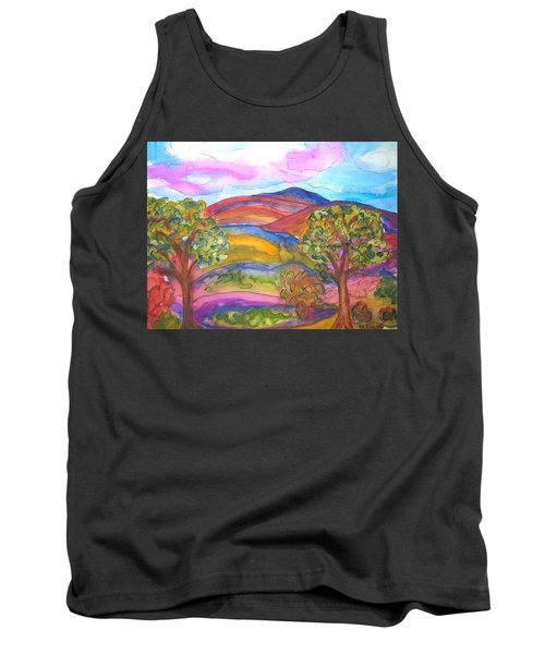 Trees And The Mountain Tank Top