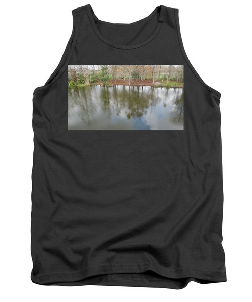 Tank Top featuring the photograph Trees And Water by Ron Davidson