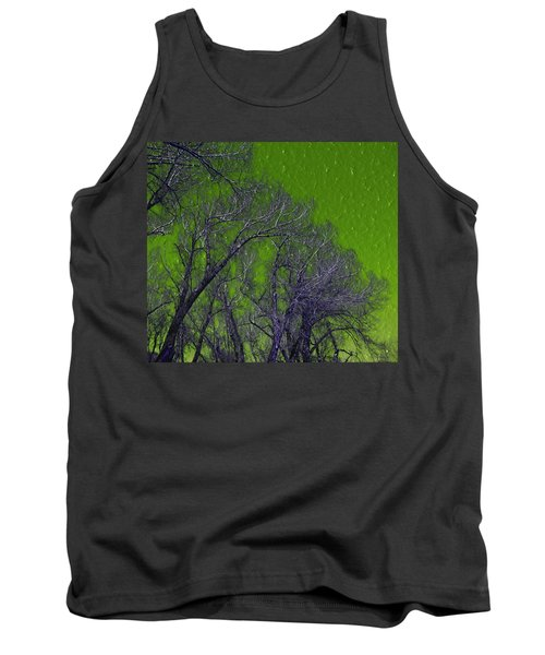 Trees On Green Sky Tank Top
