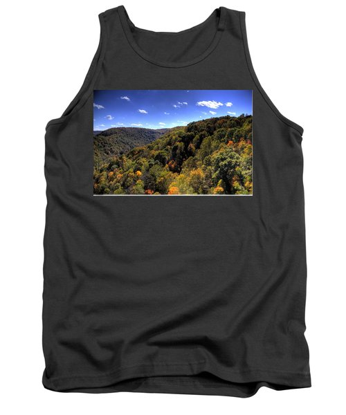 Trees Over Rolling Hills Tank Top by Jonny D