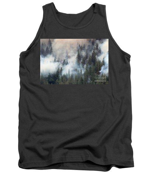 Beaver Fire Trees Swimming In Smoke Tank Top