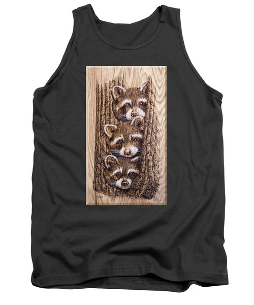 Tank Top featuring the pyrography Tres Amegos by Ron Haist