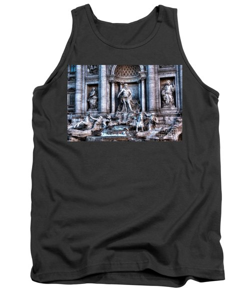 Tank Top featuring the photograph Trevi Fountain by Joe  Ng