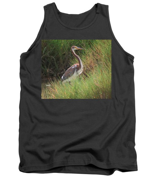 Tank Top featuring the photograph Tri-color Heron by Leticia Latocki