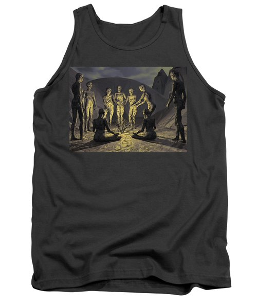 Tank Top featuring the digital art Tribe by John Alexander