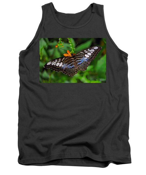 Tank Top featuring the photograph Tropical Butterfly by Marie Hicks