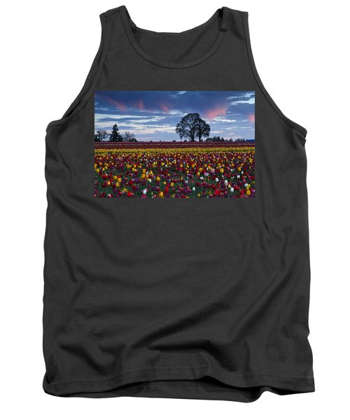 Tulip Field's Last Colors Tank Top by Wes and Dotty Weber