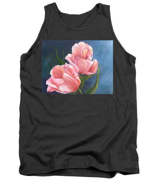 Tank Top featuring the painting Tulip Waltz by Sherry Shipley