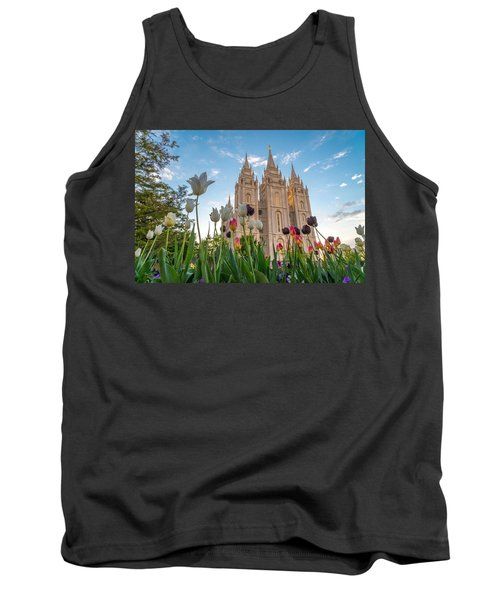 Tulips At The Temple Tank Top