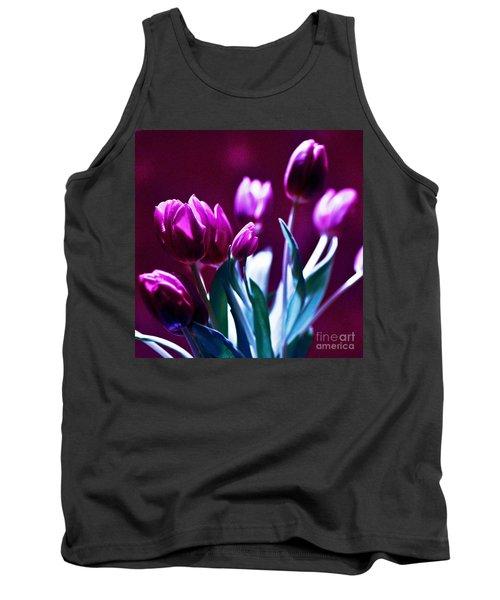 Tulips In Purple Tank Top