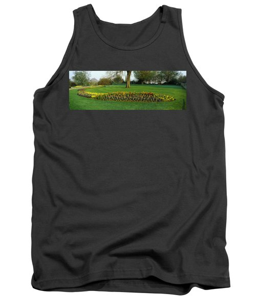 Tulips In Hyde Park, City Tank Top by Panoramic Images