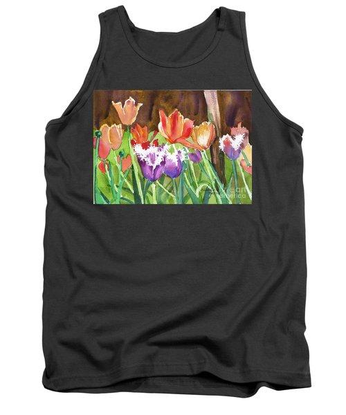Tulips In Spring Tank Top by Yolanda Koh