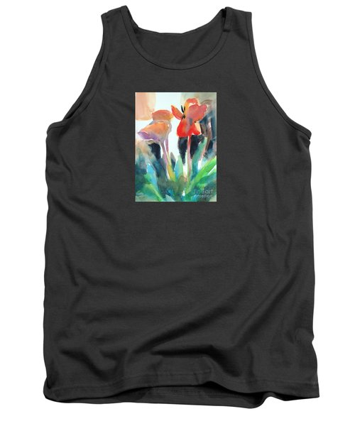 Tank Top featuring the painting Tulips Together by Kathy Braud