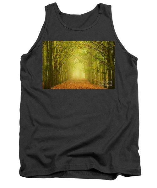 Tunnel Of Light In A Forest Of Trees Tank Top