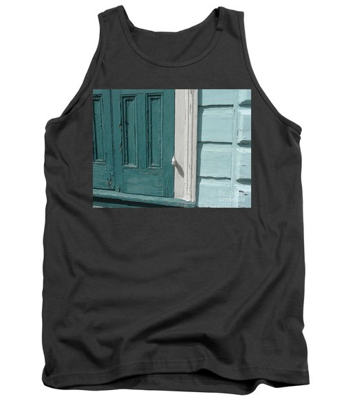 Tank Top featuring the photograph Turquoise Door by Valerie Reeves