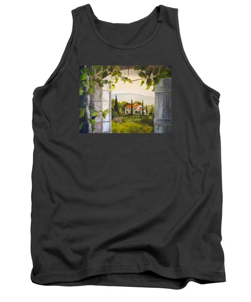 Tuscan View Tank Top by Alan Lakin