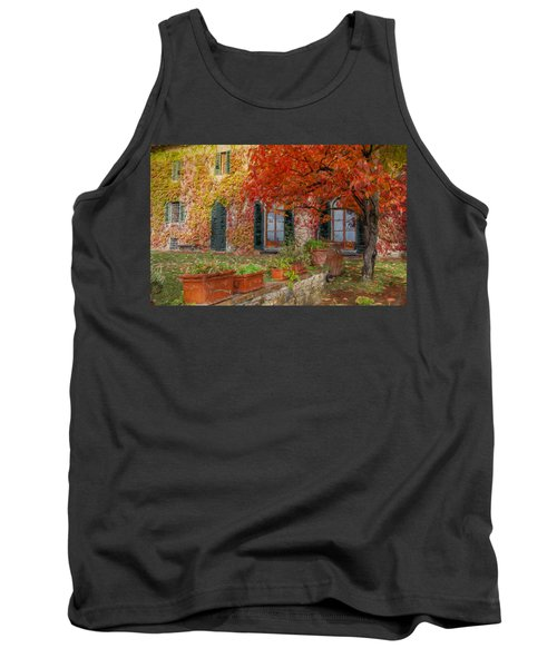 Tuscan Villa In Autumn Tank Top