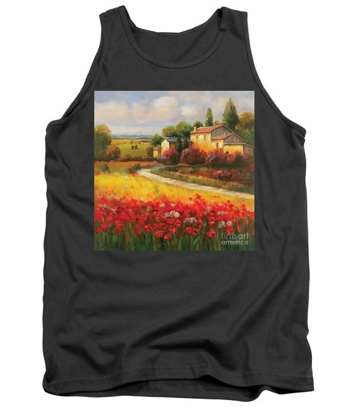 Tank Top featuring the painting Tuscan Villa  by Tim Gilliland
