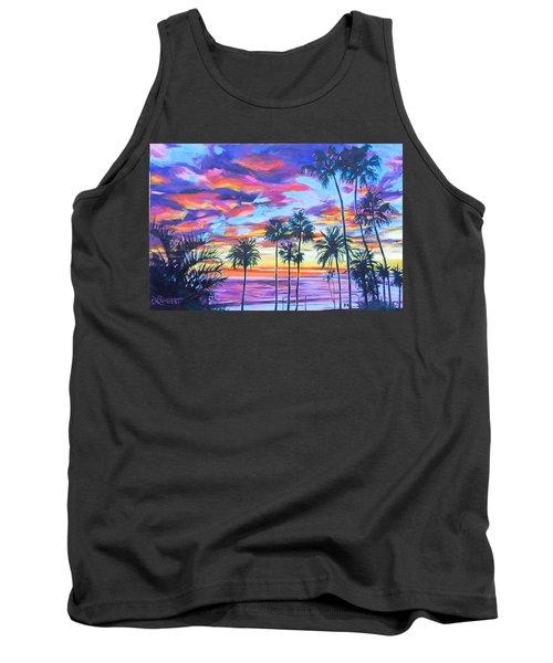 Twilight Palms Tank Top by Bonnie Lambert