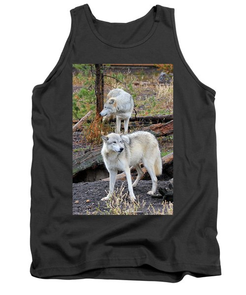 Tank Top featuring the photograph Twin Wolves by Athena Mckinzie