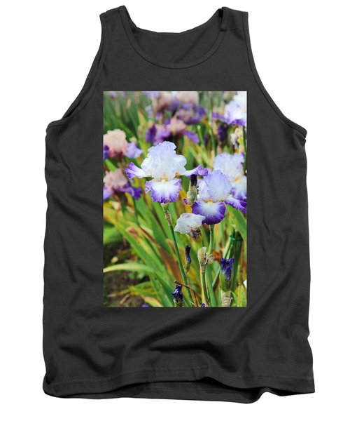 Tank Top featuring the photograph Two Iris by Patricia Babbitt