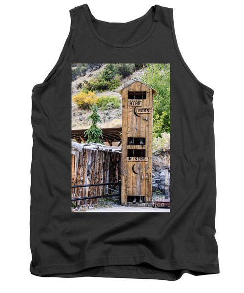 Two-story Outhouse Tank Top by Sue Smith