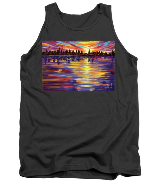 Tank Top featuring the painting Tyler's Sunrise by Tim Gilliland