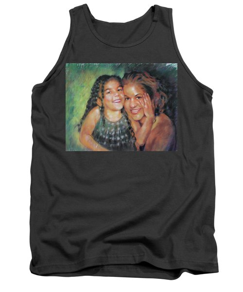 Tank Top featuring the drawing Unconditional Love by Viola El