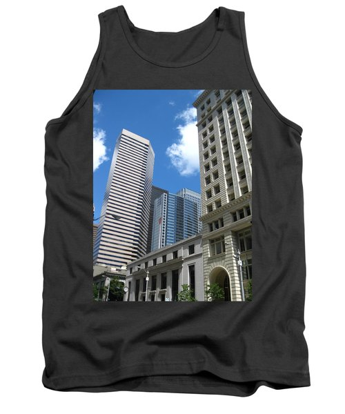 Under Seattle Blue Tank Top by David Trotter