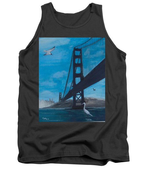 Under The Golden Gate Bridge Tank Top