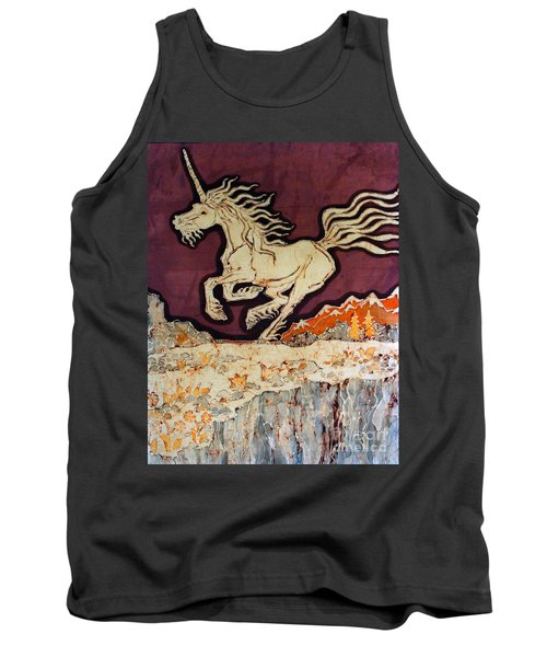 Unicorn Above Chasm Tank Top