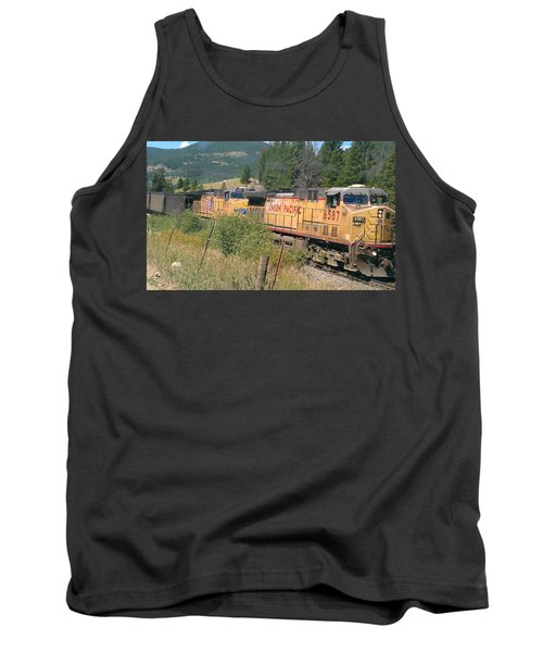 Tank Top featuring the photograph Union Pacific 6587 by Fortunate Findings Shirley Dickerson