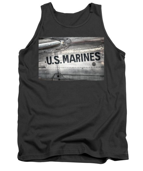 United States Marines - Beech C-45h Expeditor Tank Top by Gary Heller