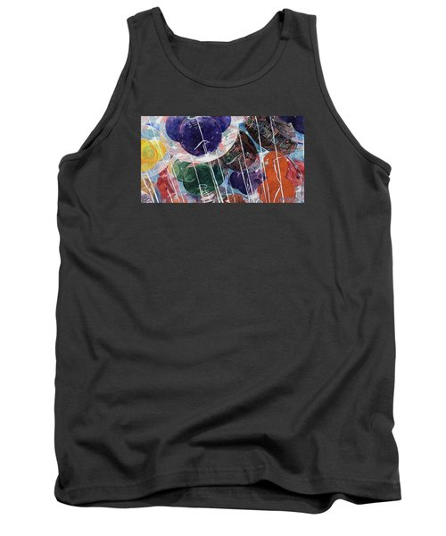 Tank Top featuring the painting Up At Walt's Place by Jeffrey S Perrine