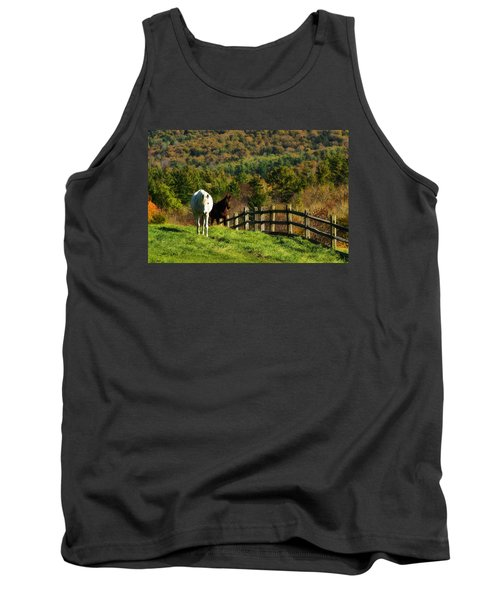 Tank Top featuring the photograph Up The Hill by Joan Davis