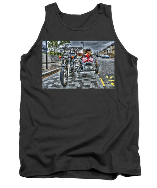 Ural Wolf 750 And Sidecar Tank Top by Steve Purnell