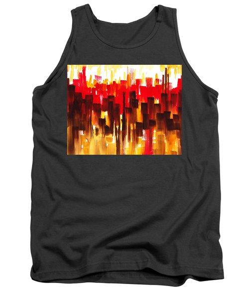 Urban Abstract Glowing City Tank Top
