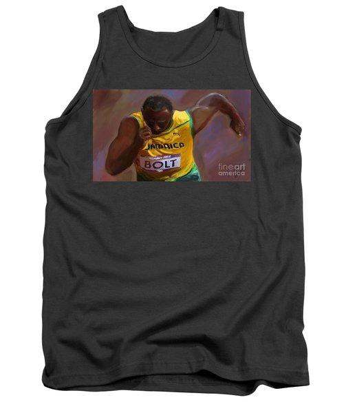 Usain Bolt 2012 Olympics Tank Top by Vannetta Ferguson