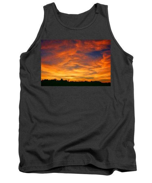 Tank Top featuring the photograph Valentine Sunset by Tammy Espino