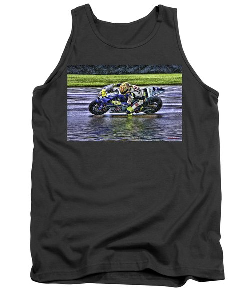 Valentino Rossi At Indy Tank Top