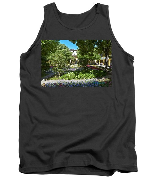 Tank Top featuring the photograph Van Gogh - Courtyard In Arles by Allen Sheffield