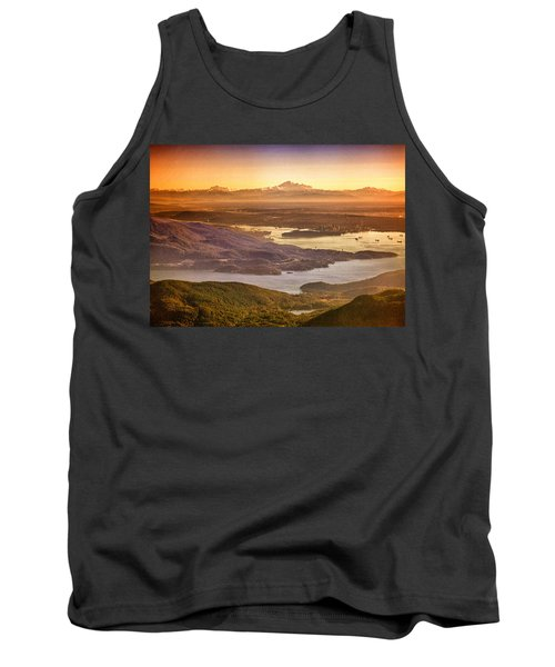 Vancouver And Mt Baker Aerial View Tank Top